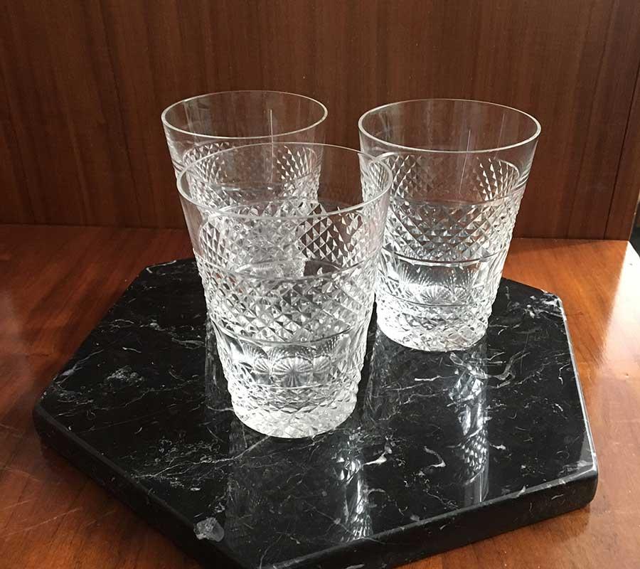 Vasos de Cristal Tallado