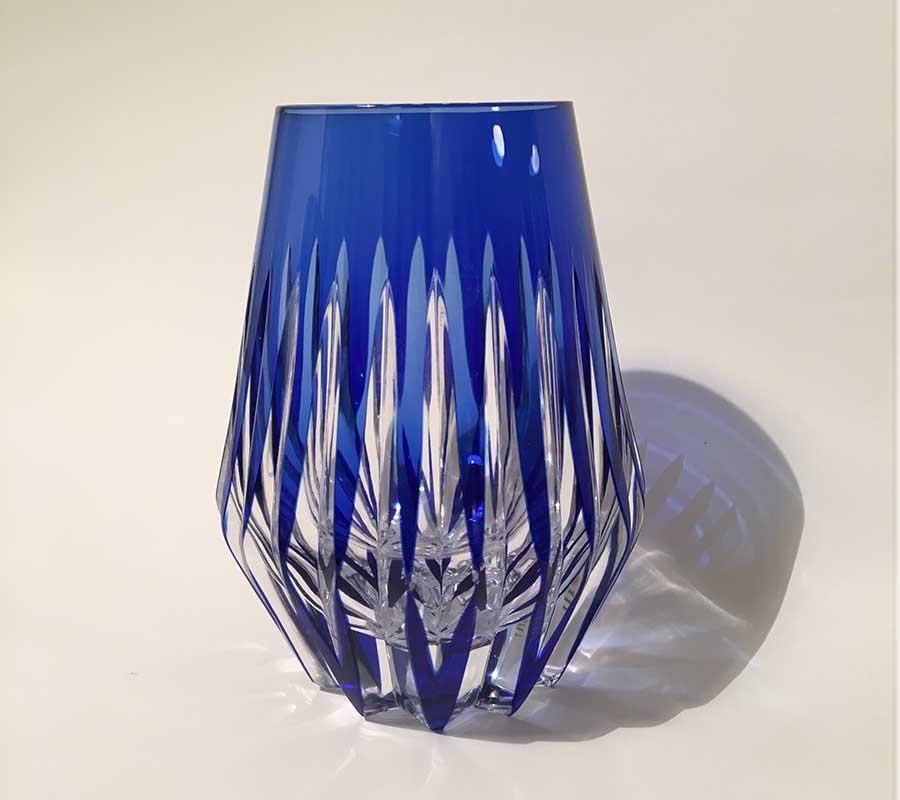 Vasos de Cristal Azul
